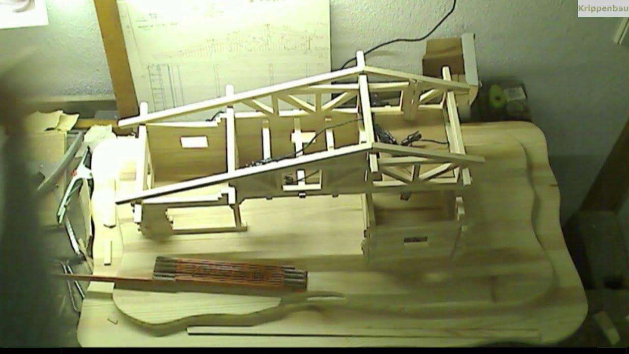 bau einer fachwerk weihnachtskrippe im zeitraffer krippenbau aus holz youtube. Black Bedroom Furniture Sets. Home Design Ideas