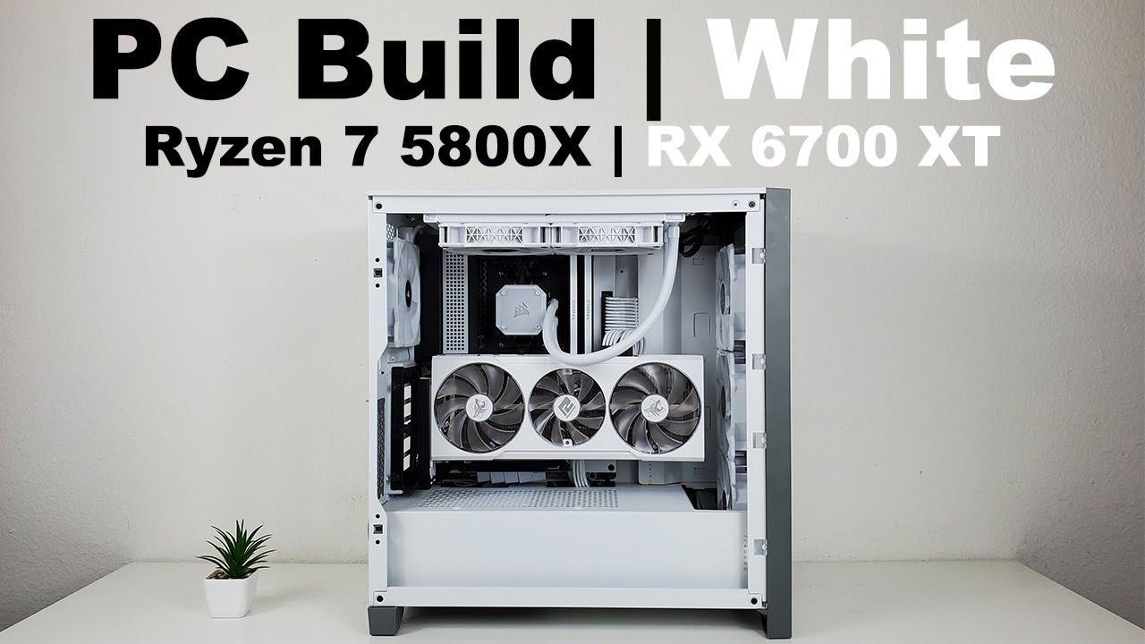Gaming PC Build White 2021 | Hellhound Spectral | T-Force XTREEM | NZXT N7 B550 | Corsair 4000D