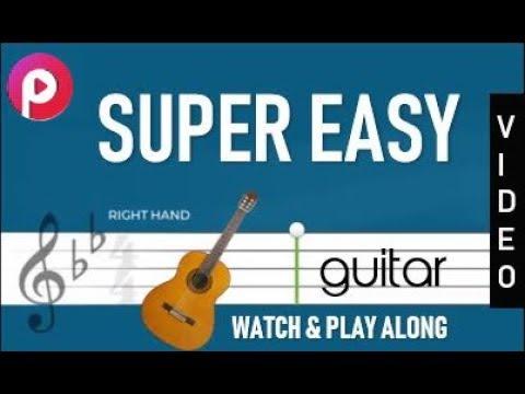 HOW TO PLAYMouna Ragham Theme Music GUITAR NOTES NORMAL SPEED