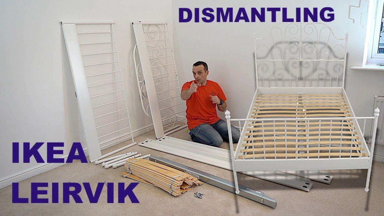 Ikea Leirvik Bed Frame White Luroy Dismantling Youtube