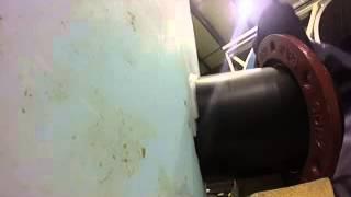 How to install plastic high density polyethylene flange
