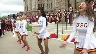 trojancandy.com:  The USC Song Girls Perform on the Texas Capitol Steps