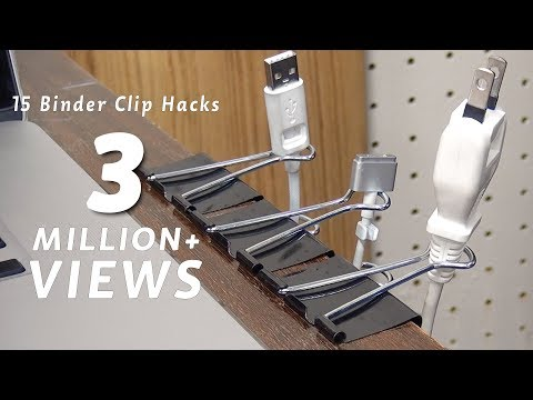 15 Life Hack things do with binder clip [DIY]