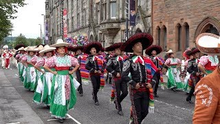 City of Perth Salute 2018 street parade with visiting bands from the Royal Edinburgh Tattoo