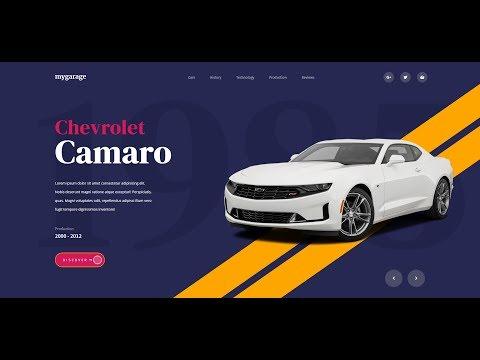 01 My Garage Website Landing Page Design Tutorial HTML | CSS (Intro)