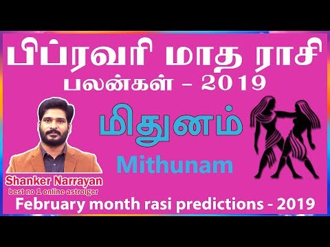 February month rasi palan 2019  mithunam