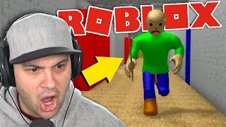 THIS CREEPY BALDI WAS CONTROLLED BY A HUMAN! | Roblox Baldi's Basics