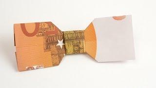 Geldschein falten Hochzeit: FLIEGE aus Geld basteln, in 4K