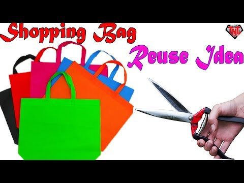 How To Make Grass Flowers of Shopping Bags | Zephyranthes Candida | Best out of waste Fabric Bag
