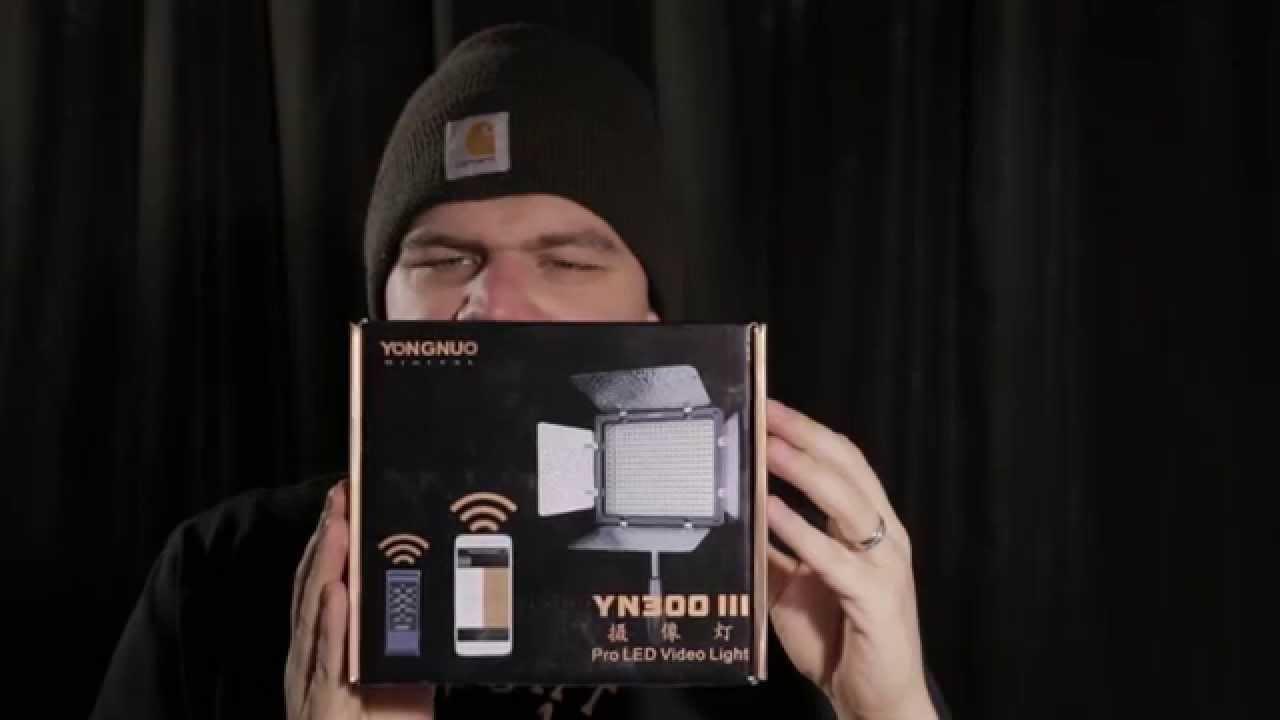 yongnuo yn300 iii yn 300 iii led light 5500k unboxing and quick