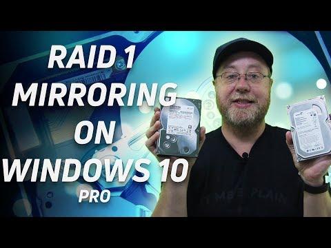 Set Up RAID 1 Mirroring On Window 10 Pro