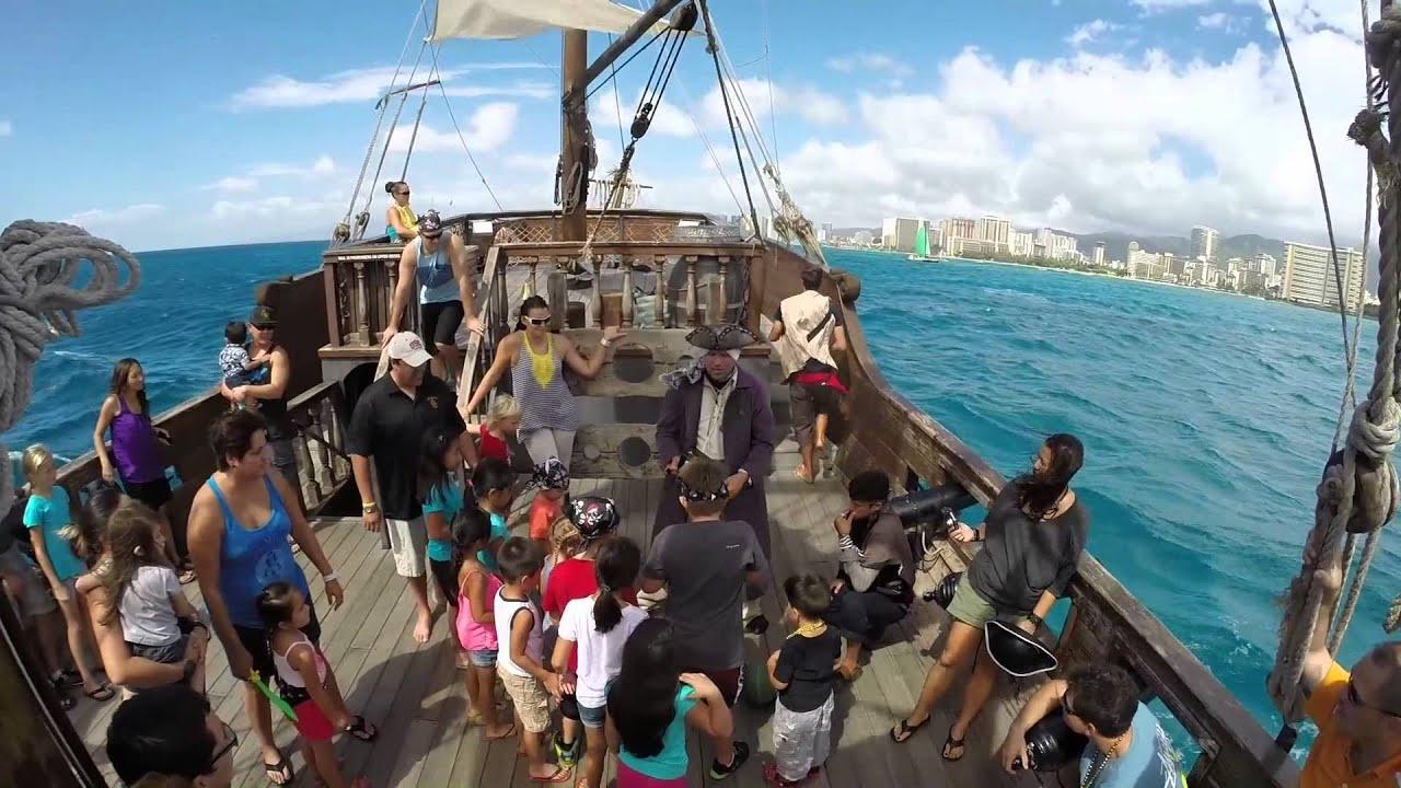 Pirate Ship Oahu YouTube - Pirate ship cruise hawaii