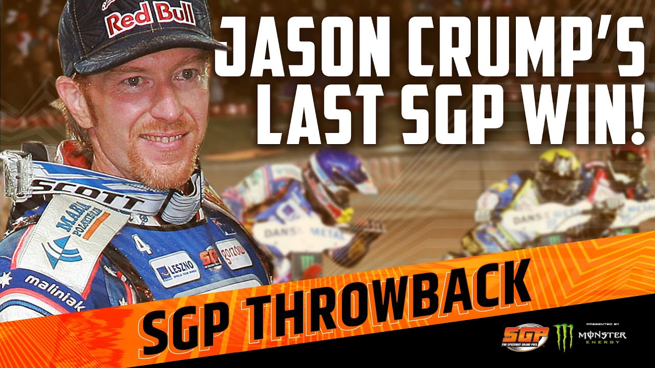 JASON CRUMP'S LAST SGP WIN! | FIM Speedway Grand Prix