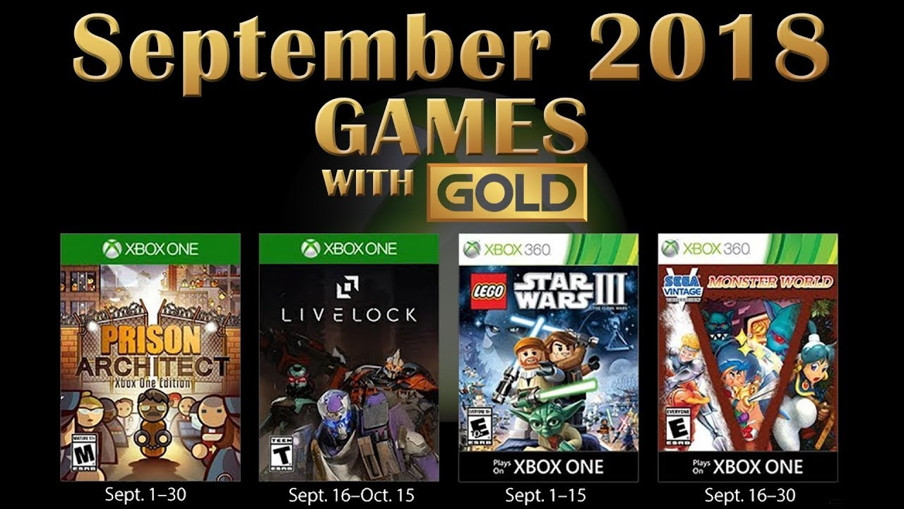 Xbox Live Games With Gold September 2018 Youtube