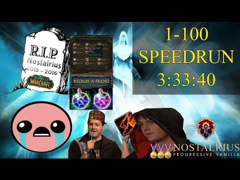 World of Warcraft 1-100 SRC-Blind Speedrun   2 man   3:33:40   💀 RIP 💀 Nostalrius :(