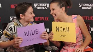 Millie Bobby Brown & Noah Schnapp Funny Moments Part 2