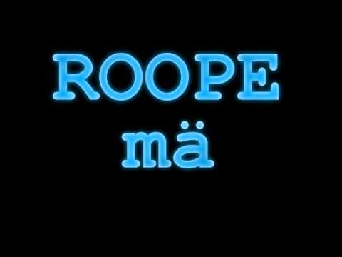 roope - mä (lyrics)