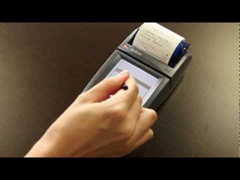 how to use verifone credit card machine