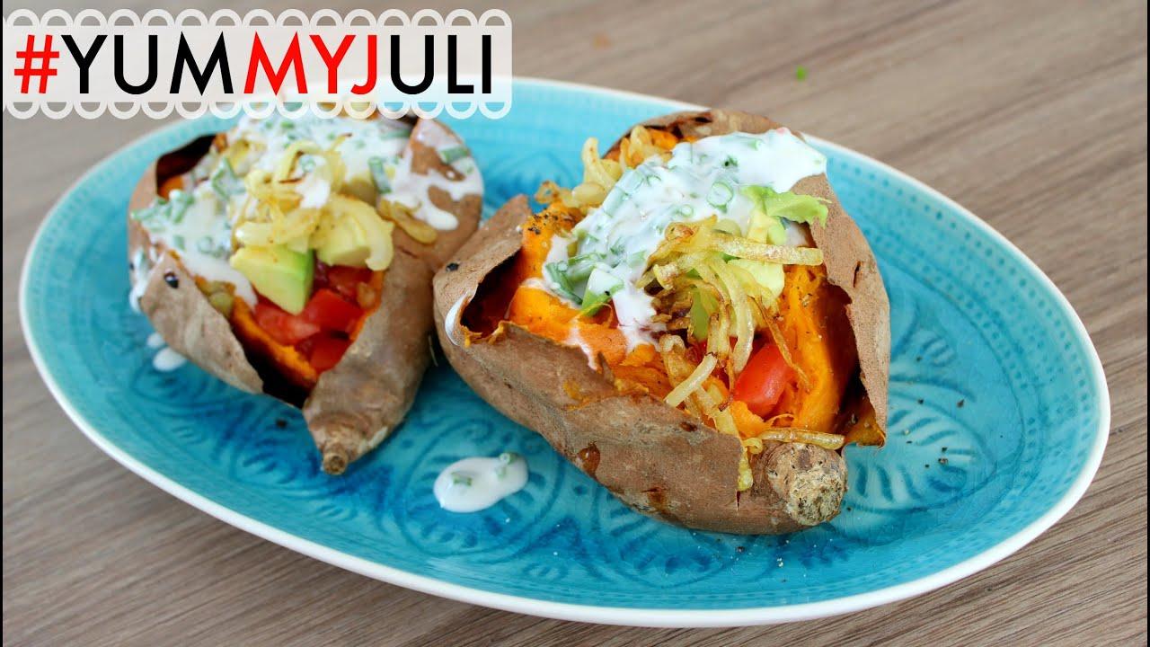 Sommerküche Food With Love : Gefüllte süßkartoffeln leichte sommerküche yummyjuli