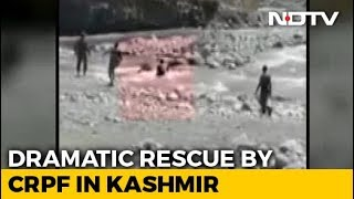 Video: CRPF Men Jump Into River To Rescue Woman In Jammu And Kashmir