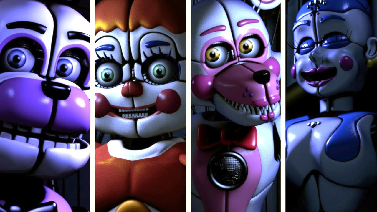FNAF SL Animatronics Voices Lines (Sister Location Animated)