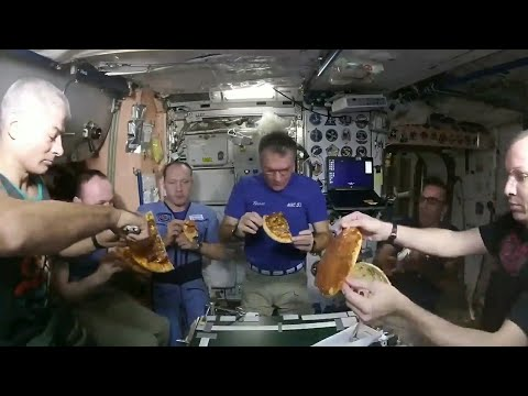 Pizza Party in International Space Station