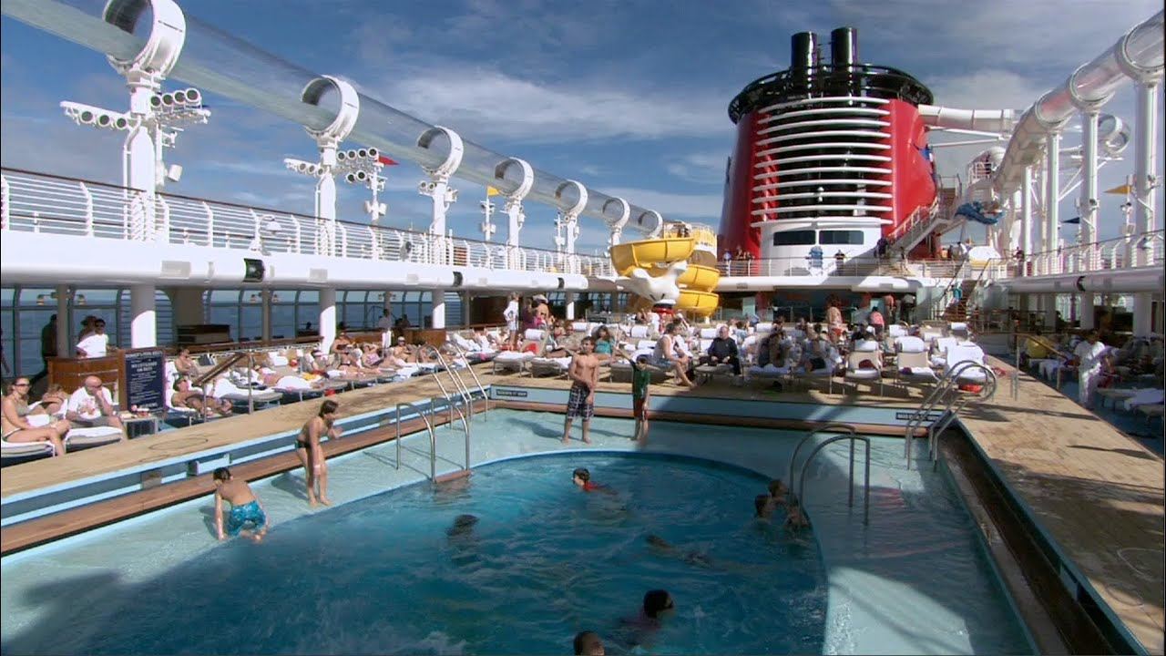 Disney Fantasy Cruise Pools With AquaDuck Quiet Cove Adults Area Nemos Reef