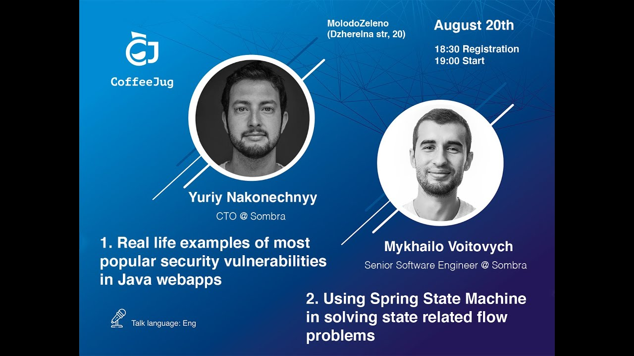 Real-life examples of the most popular security vulnerabilities in Java web apps by Yuriy Nakonechny