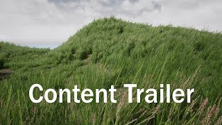 UE4 optimized dynamic Grass Library cinematic Trailer