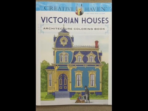 Creative Haven Victorian Houses Architecture Coloring Book (Adult Coloring) flip through