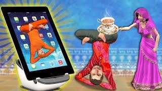 ऑनलाइन योग कक्षाएं Online Yoga Classes Comedy Video हिंदी कहानिय Hindi Kahaniya Funny Comedy Video