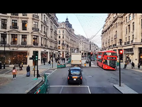London Bus Ride 2020 | Big Ben, Trafalgar Square, Regent Street