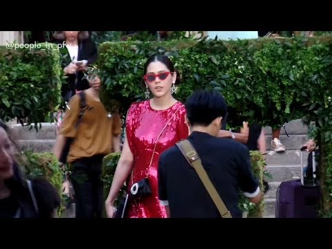 Araya A Hargate (Chompoo) attends the Givenchy Couture fashion show in Paris – July 1st 2018