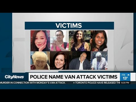 Police name all 10 people killed in North York van attack