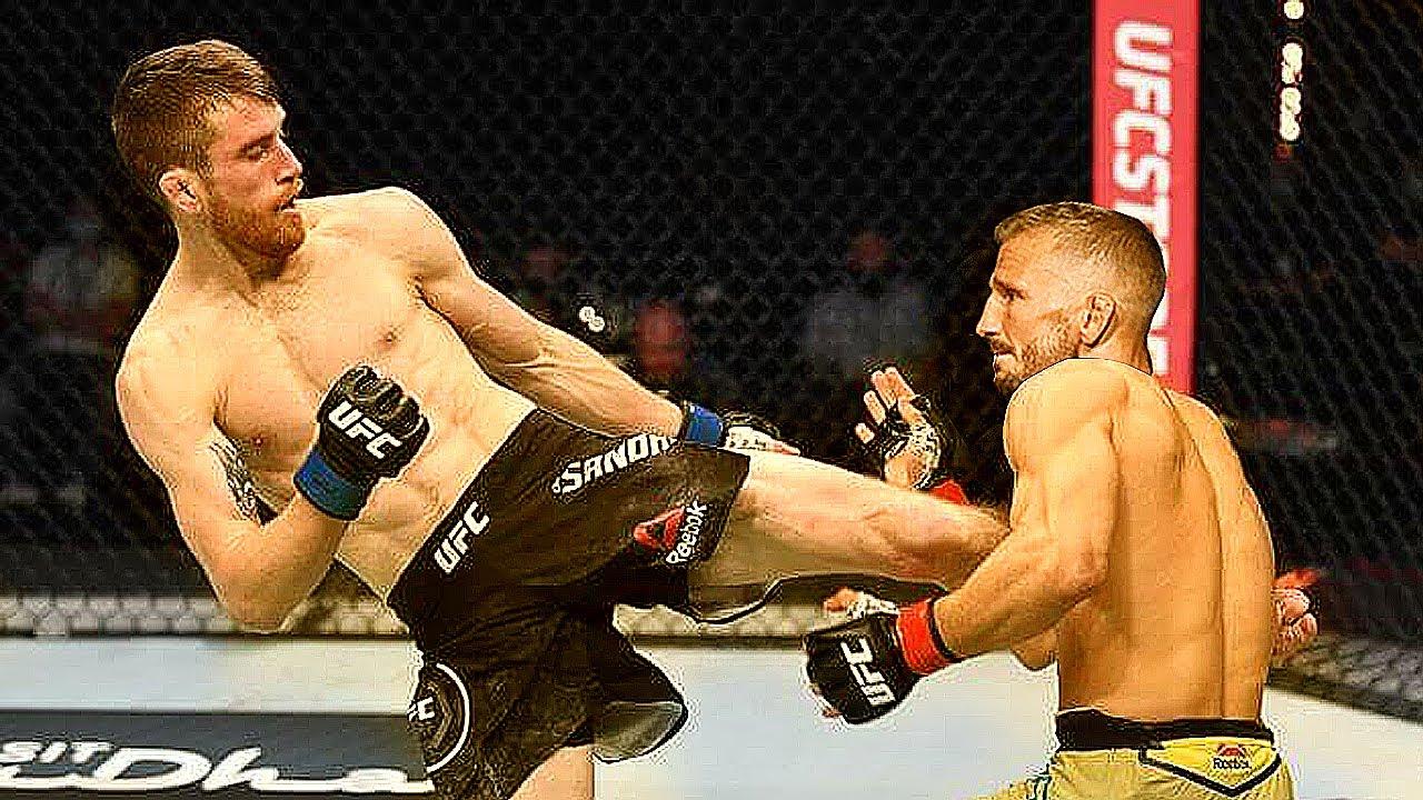 Победа Ти Джей Диллашоу - Кори Сэндхэнген  UFC on ESPN 27