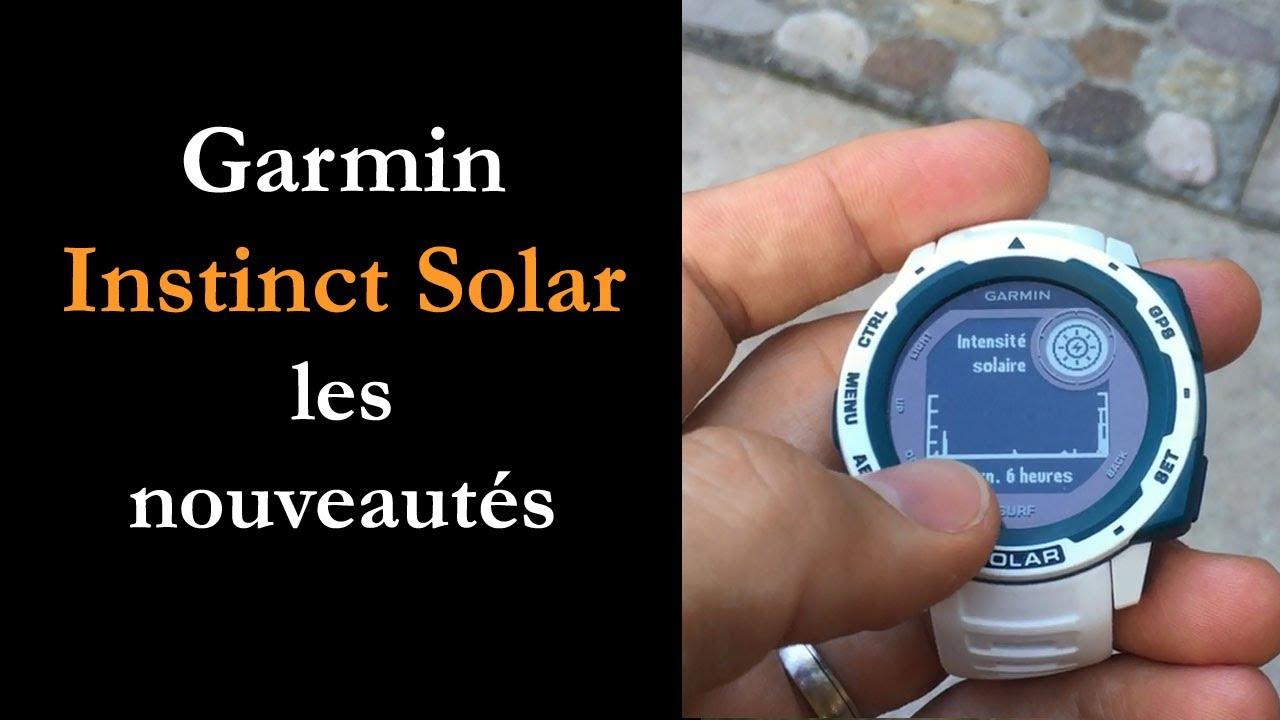 Garmin Instinct Solar : autonomie illimitée
