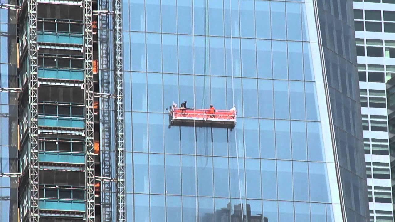 1 World Trade Center Window Washers July 9 2011 Youtube
