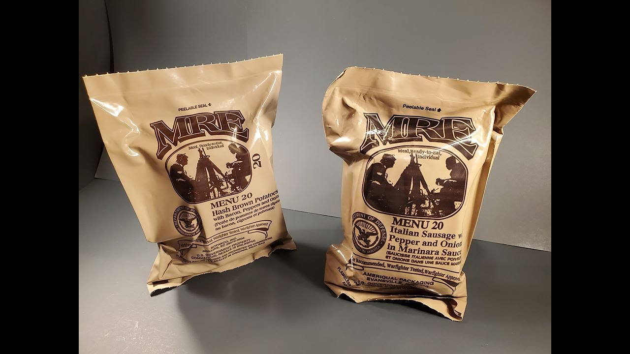 Download 2020 US MRE Menu 20 Sausage Peppers & Onions Review &  2019 Hashbrowns w Bacon Taste Test Comparison
