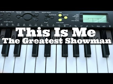 The Greatest Showman: This Is Me -  Keala Settle | Easy Keyboard Tutorial With Notes (Right Hand)