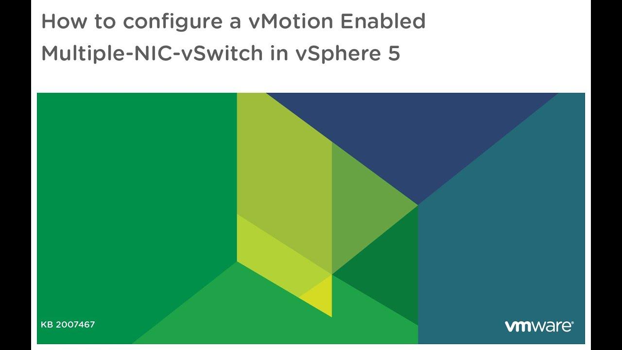 Multiple-NIC vMotion in vSphere 5… | Yellow Bricks