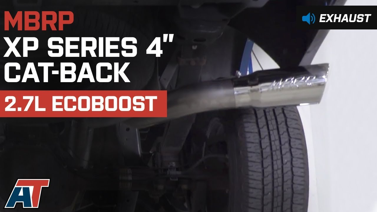 MBRP 4 in  XP Series Single Exhaust System - Side Exit (15-19 2 7L EcoBoost  F-150)