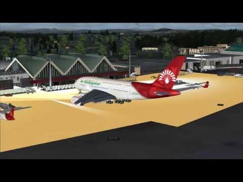 Air Mad A380 flight from Paris to Tana via Marseille