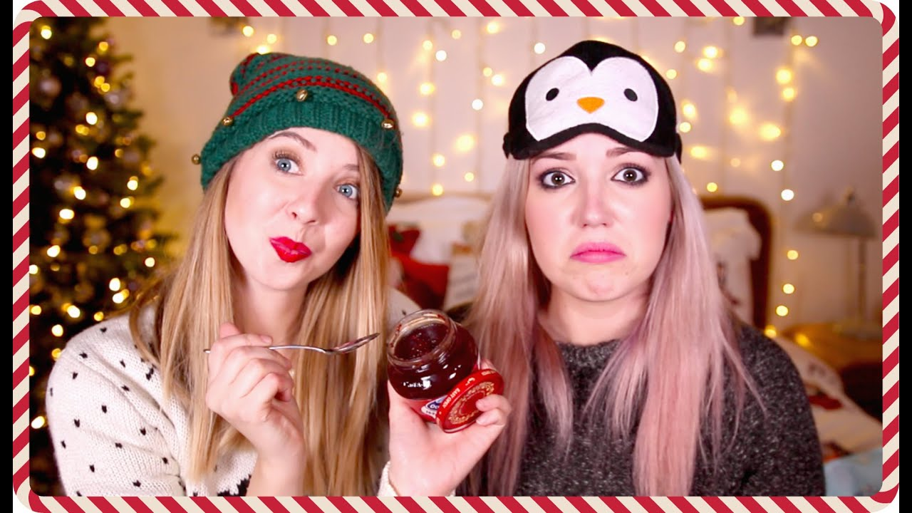 What\'s In My Mouth Christmas Edition With Gabbie | Zoella - YouTube