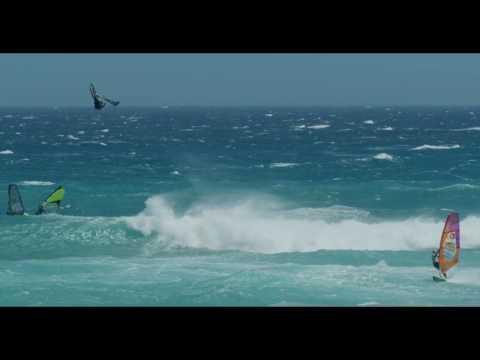 Ricardo Campello , big jump in Capetown windsurfing