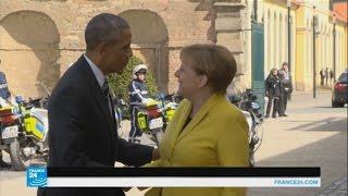 أوباما وميركل يبحثان اتفاقية التبادل الحر بين أمريكا والاتحاد الأوروبي