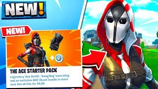 FREE SKIN WITH 600 VBUCKS! ACE STARTER PACK! FORTNITE SKINS!