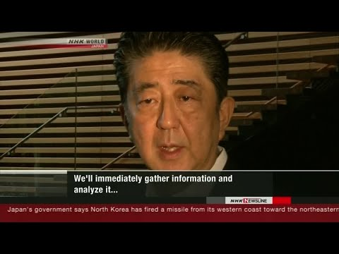 "Japan Prime Minister Shinzo Abe: ""North Korea has fired a missile that apparently flew over Japan"""