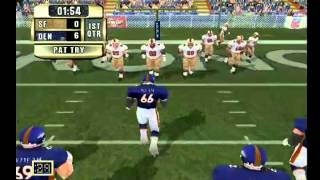 NFL GAMEDAY 2001| BRONCOS vs 49ERS|1ST QTR [PS2] [HD]