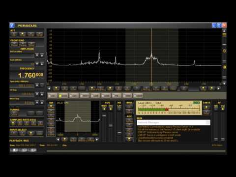 1760 kHz Super Wide Greek Pirate Radio Station Heard on Italian Perseus Node