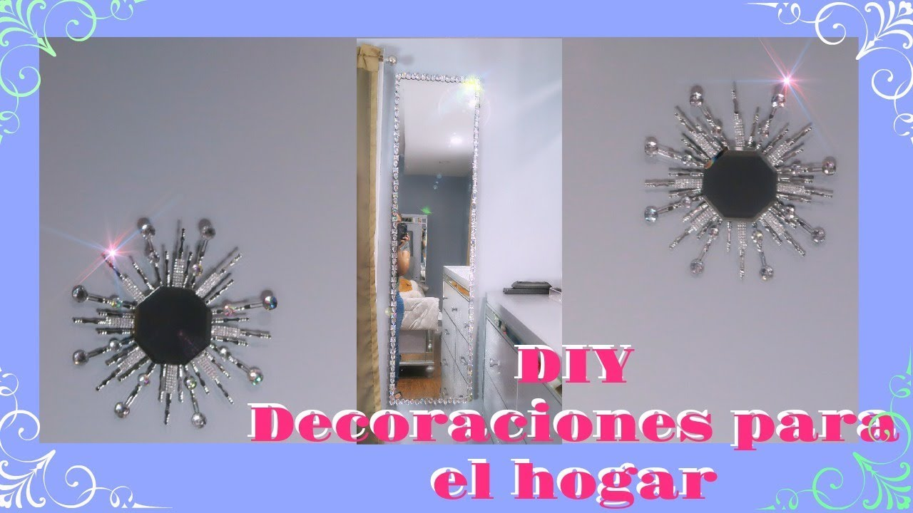 Diy decoraciones para el hogar wall decor youtube for Decoraciones de hogar